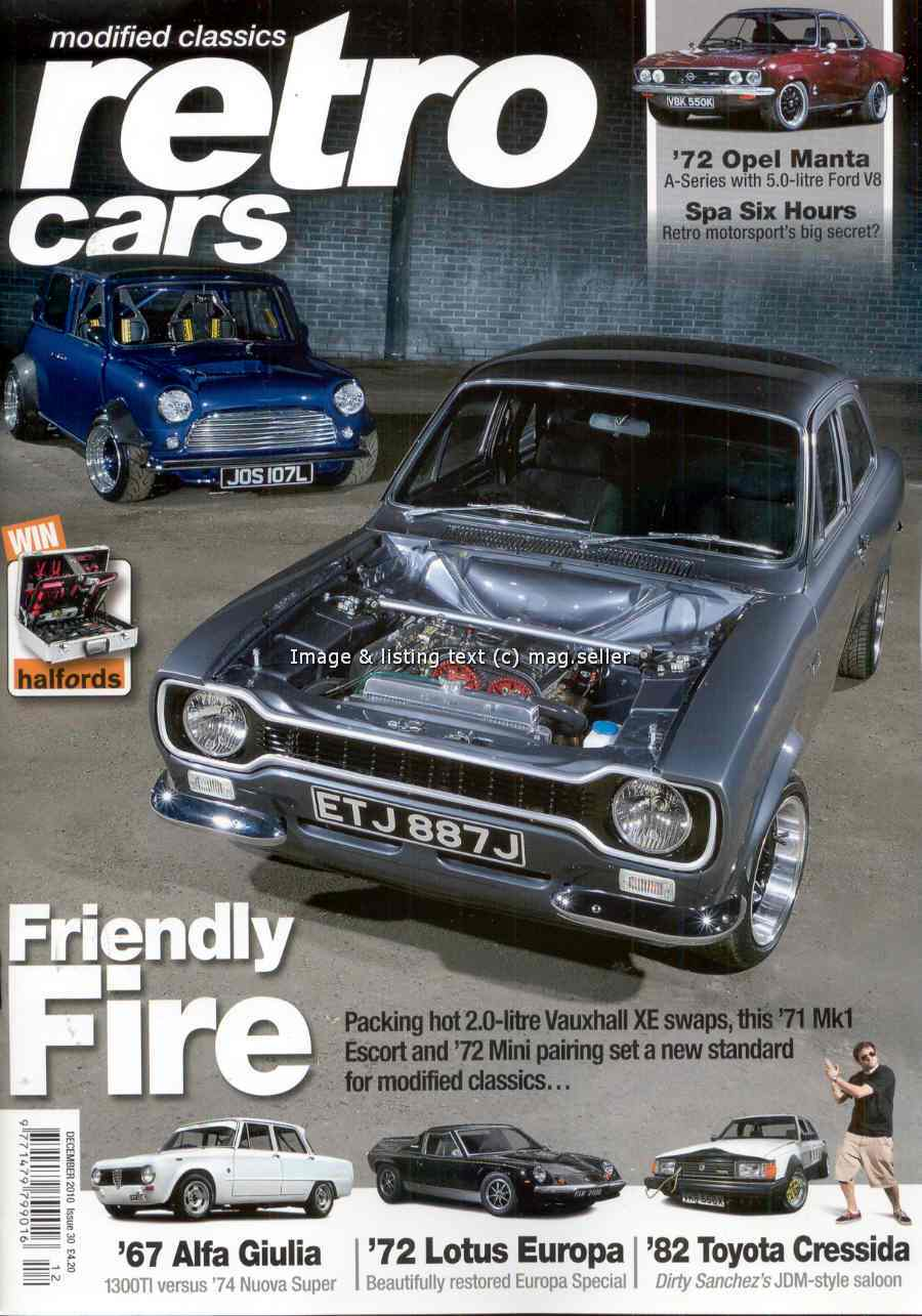 Find Retro Cars December 2010 Manta A Alfa Giulia Europa on eBay